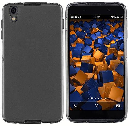 mumbi Hülle kompatibel mit BlackBerry DTEK50 Handy Case Handyhülle, transparent schwarz