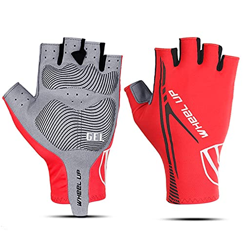 Cycling Gloves,Half Finger Cycling Gloves Bike Gloves Cycle Gloves Anti-Slip Shock-absorbing Breathable Fingerless Cycling Gloves for Men Women