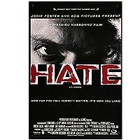 憎しみ映画アートシルクポスタープリントHdプリントホームポスターキャンバスリビングルーム装飾用-50x75cmx1pcs-フレームなし