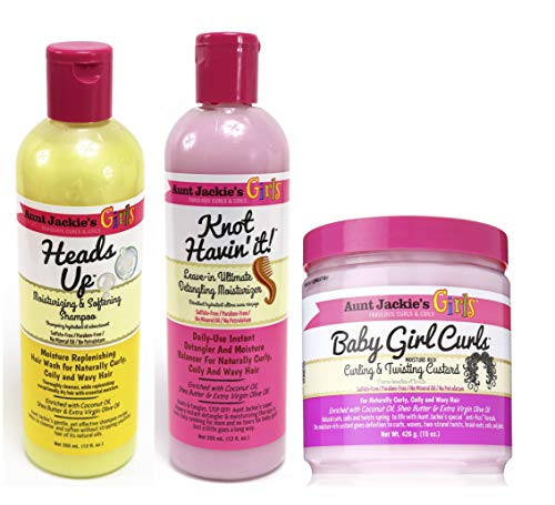 Aunt Jackie's Girls! - 3er-Set für Reinigung, Pflege & Feuchtigkeit - für Mädchen mit tollen Locken und Naturkrause