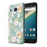 HelloGiftify Nexus 5X Case, Floral Pattern TPU Soft Gel Protective Case for Nexus 5X
