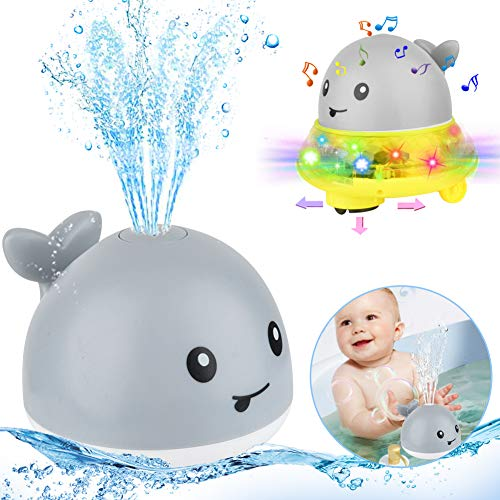 Baby Badespielzeug, Automatische Induktions Sprinkler Wal,Sprinkler Badespielzeug ,Kinder Schwimmende 2 in 1 ,Baby Spielzeug für Baby Kleinkinder Kinder Party,Wasserspielzeug,Kinder Wasser Dusche