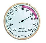 TFA Dostmann Analoges Sauna Thermometer, 40.1011, hitzebeständige Materialien, große, gut ablesbare Skala, hergestellt in Deutschland, gold
