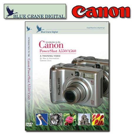 Canon PowerShot A550 / A560 - A training Video for New to Intermediate Camera Users (TUTORIAL DVD)