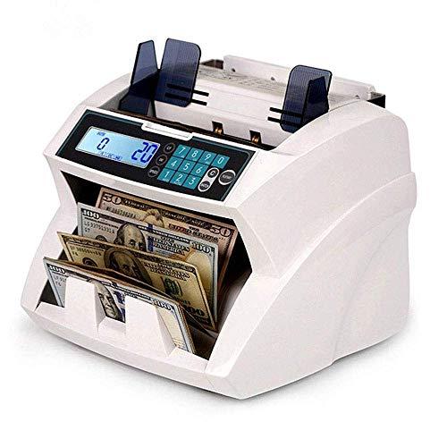 WJQ Máquina de Contador de Dinero de denominación Mixta y Lector de facturas de Valor con Detector de falsificaciones UV, MG, Infrarrojos, tamaño y reconocimiento de Imagen