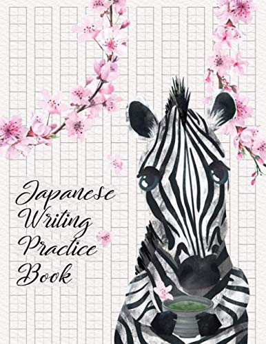 Japanese Writing Practice Book, Zebra with matcha green tea: Genkouyoushi Paper Notebook Blank, Kanji Practice Notebook, For Learning Japanese ... Katakana and Kana, Suitable for kids