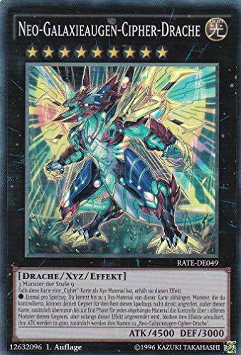 RATE-DE049 - Neo-Galaxieaugen-Cipher-Drache - Super Rare - Yu-Gi-Oh - Deutsch 1. Auflage