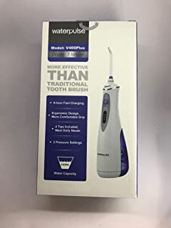 Waterpulse V400pulse Portable Dental Flosser Cordless Oral Irrigator With Travel Case 240ML Rechargeable Battery Water Flo...