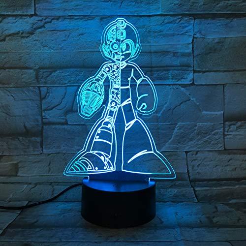 WoloShop Megaman Capcom LED-Lampe, Farbwechsel, USB, Nachtlicht
