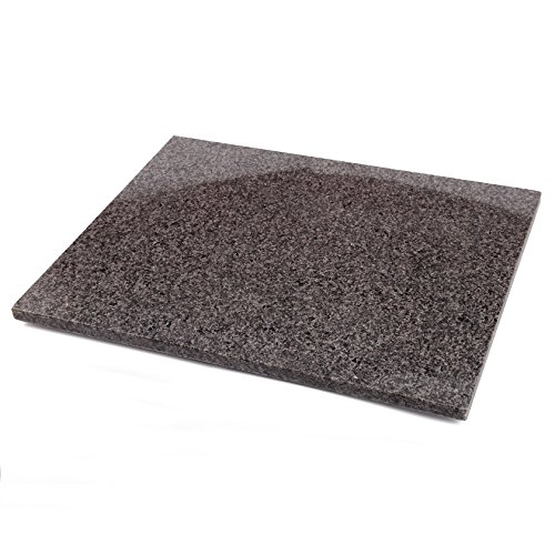 Creative Home Natural Granite Stone Pastry Baking Cheese Serving Board 16quot L x 20quot W Dark Gray