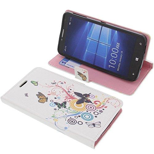 foto-kontor Tasche für Alcatel One Touch Idol 4 Pro Book Style Schmetterlinge Schutz Hülle Buch