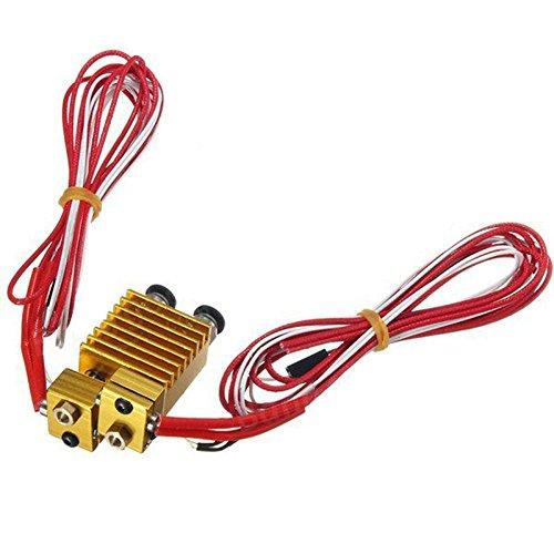 Doble cabeza extrusora E3D V6Hot End extrusor con cable para 3d impresora