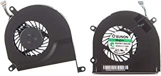 Willhom Left + Right CPU Cooling Fan (661-4951,661-4952, 922-8702,922-8703) Replacement for MacBook Pro 15