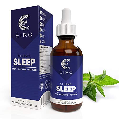 natural sleeps EIRO Silent Sleep All Natural Sleep Aid │ Fast Acting │ Melatonin, L-Theanine, Hops Flower, Proprietary Blend │ Non-Habit Forming Potent Formula