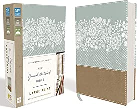 NIV, Journal the Word Bible, Large Print, Leathersoft, Teal/Tan: Reflect, Journal, or Create Art Next to Your Favorite Verses