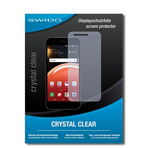 SWIDO beschermfolie voor LG Zone 4 [2 stuks] kristalhelder, hoge hardheid, bescherming tegen olie, stof en krassen/glasfolie, displaybescherming, beschermfolie, pantserglas-folie