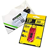 Nitecore TIP USB rechargeable 360 lumen keychain flashlight red color body with EdisonBright brand USB charging cable