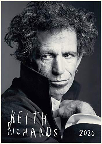 WallKalender 2020 [12 blatt 20x30cm] Keith Richards Rolling Stones Rock Musik Vintage Foto Plakat Magazine Cover