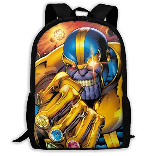 Anime Avenger Thano Adult Travel Bapa Fits 15.6 Inch Laptop Bapas School College Bag Casual Rusa for Men & Women
