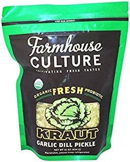 Farmhouse Culture Kraut, Garlic Dill Pickle, 16 Ounce (pack Of 06)