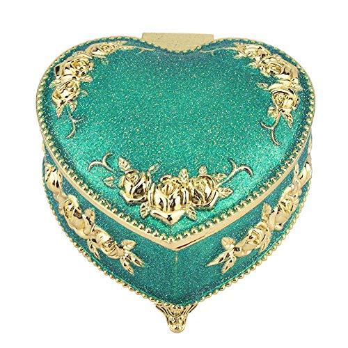 Wifehelper Decoratieve doos hartvormig antiek gesneden verguld bloem gesneden handgemaakte handgemaakte handgemaakte handgemaakte Crafts bewaarorganisator box geschenk en decoratie
