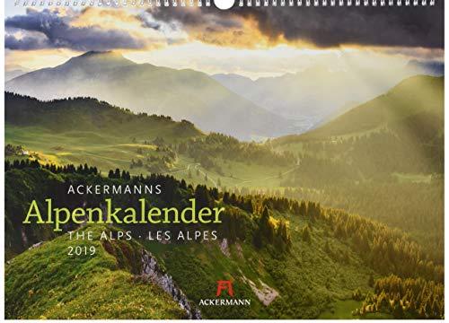 Ackermanns Alpenkalender 2019, Wandkalender im Querformat (45x33 cm) - Landschaftskalender / Naturkalender mit Monatskalendarium