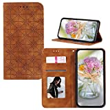 JZ [Embossed Lucky Flower Solid Color Wallet Flip Cover pour Huawei Y5p / Honor 9s Coque - Yellowish...