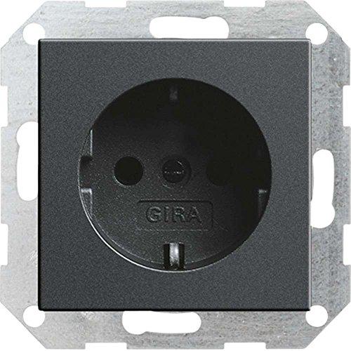 Gira 046628 Schuko stopcontact zonder klauw systeem 55, antraciet