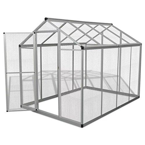 Festnight Pajarera Grande para Exterior Estructura de Aluminio 178x242x192 cm