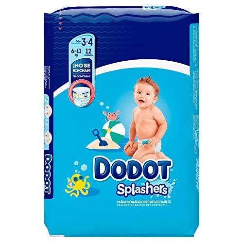 Dodot Splashers - 12 Pañales Bañadores Desechables, 6-11 kg, No Se Hinchan Y Fácil de Quitar, Talla 3
