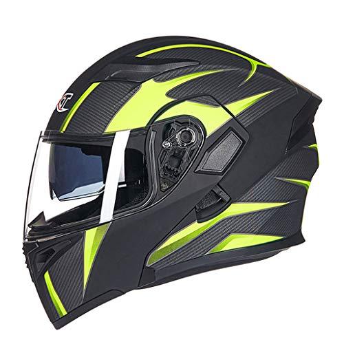 Casque moto hommes et femmes casque de moto anti-buée (Couleur : C-L(58-59cm0)