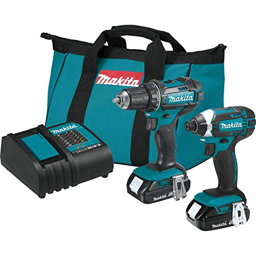 MAKITA CT225SYX 18V LXT Li-ion Cordless Drill/Impact Driver 2-Pc Combo Kit (Renewed)