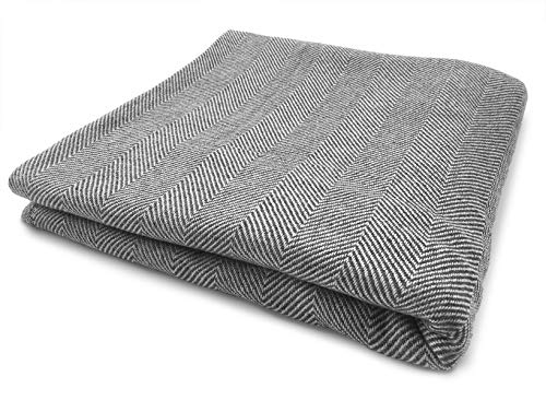 Youni Home Kaschmir Decke 135x270 cm für Couch Sofa Bett 100{9445ba46c048b79f010a0f25a2ff1ce2dc805e37ca2c252543b5ef2ce0e22cec} Cashmere Exklusive Kuscheldecke aus Kashmir auch geeignet als Überwurf Tagesdecke Plaid Made in India Neues Modell (Grau)