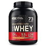 Optimum Nutrition Gold Standard 100% Whey Proteína en Polvo, Glutamina y Aminoácidos Naturales, BCAA, Toffee Fudge de Caramelo, 73 Porciones, 2.27kg, Embalaje Puede Variar