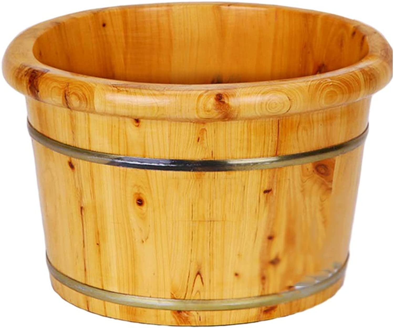 QING MEI Foot Tub, Wooden Foot Bath Barrel Foot Bath Barrel Thickening, Footbath Wash Basin A++