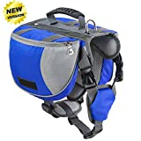 Lifeunion Adjustable Service Dog Supply Backpack Saddle Bag for...