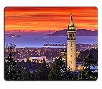 サンフランシスコ湾とカンパニーPM2404の上にマウスパッドマウスパッドゲーミングマウスパッド劇的な夕焼け