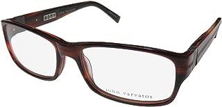 John Varvatos V339 Mens Designer Full-rim Flexible Hinges Fashionable Made In Japan Eyeglasses/Glasses