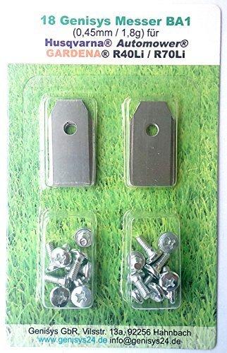genisys *18 Messer (extra scharf)* für Husqvarna Automower ® und Gardena R40Li / R70Li