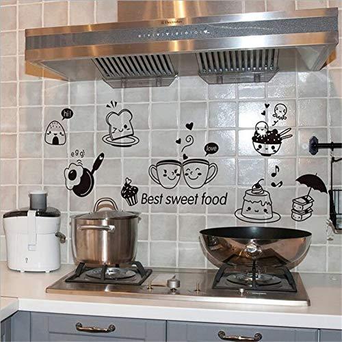 XMDNYE Küche Wandaufkleber Kaffee Süße Lebensmittel DIY Wandkunst Aufkleber Dekoration wohnkultur Tapeten Abnehmbare PVC Wandtattoos