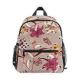 花蝶アート幼児就学前のバックパック本袋ミニショルダーバッグリュックサック通学用1-6年旅行男の子女の子