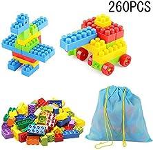 SYGA 260 Pcs Toy Building Bricks Educational Game Blocks Kit for 3+ Childern (Potli Bag)