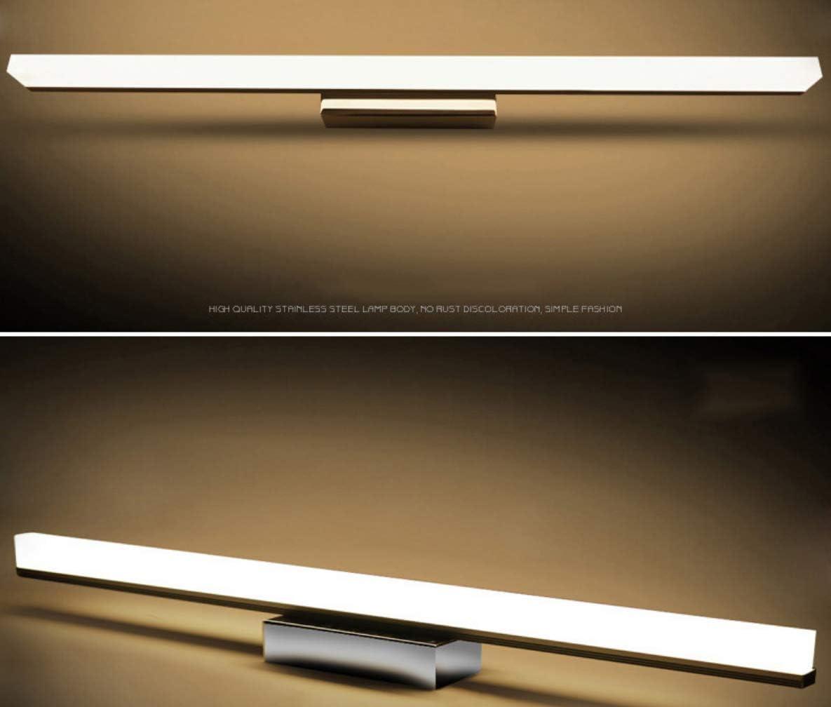 HJFGIRL Wandleuchte für warme Wandleuchte Badspiegel LED Spiegelleuchte IP44 Wasserdichtes Licht Weiß 4000K Schrankwand, Schrank, an der Wand,12w/60cm 22w/120cm