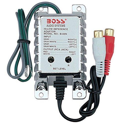 1 BOSS AUDIO SYSTEM B65N convertitore segnale rca in low high level riduttore trasforma segnale amplificato in rca low level con regolazione della sensibilità, 1 pezzo