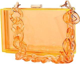 Shiratori Women Acrylic Black Lipstick Shape Evening Bags Purses Clutch Vintage Banquet Handbag