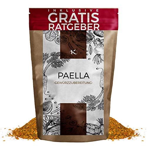 Paella Gewürzmischung 100g | Paella Kräutermischung gemahlen Gewürzspezialität inkl. gratis Ratgeber | hochwertiges Küchengewürz traditionell spanisch