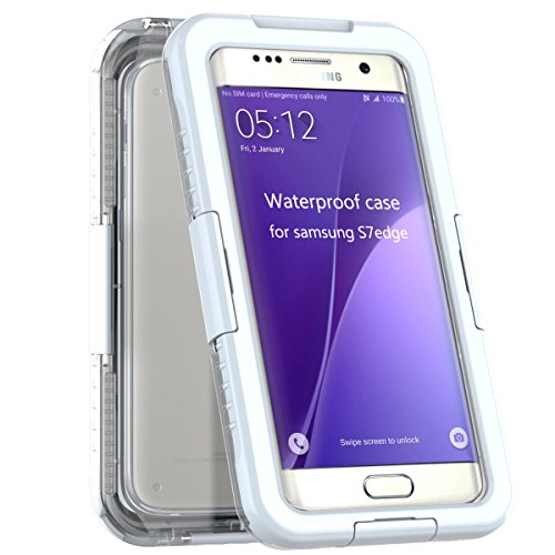 2016 Ultra Thin New funda protectora impermeable IP68 sumergible snow-resistant Prueba de Polvo a Prueba de Golpes Totalmente Sealed – Carcasa para Samsung Galaxy S7 Edge Color Blanco