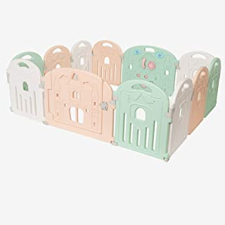 Hfyg Playpens Baby Playpen  Baby Play Pen Indoor Safety Play Yard Strong and Durable Easy Install pens  Size panels 128x150cm