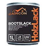 Bootslack Holzlack | Seidenglänzend Farblos | Klarlack für Holz Möbel Schiffslack Treppenlack Gartenmöbellack 1L