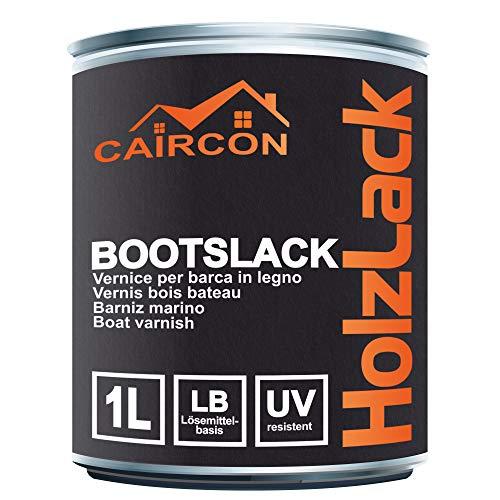 Bootslack Holzlack   Seidenglänzend Farblos   Klarlack für Holz Möbel Schiffslack Treppenlack Gartenmöbellack 1L